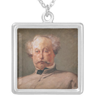 Porträtt av Alexandre Dumas fils Silverpläterat Halsband
