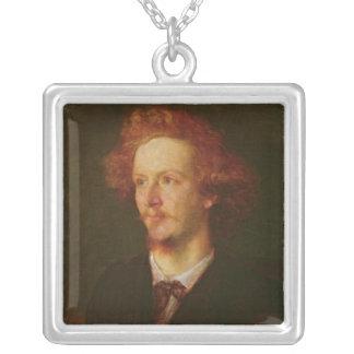 Porträtt av Algernon Charles Swinburne 1867 Silverpläterat Halsband