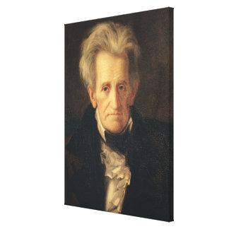 Porträtt av Andrew Jackson Canvastryck