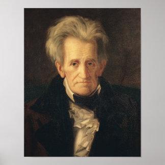 Porträtt av Andrew Jackson Poster
