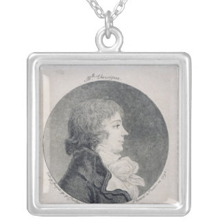 Porträtt av Anne-Josephe Trewagne Silverpläterat Halsband