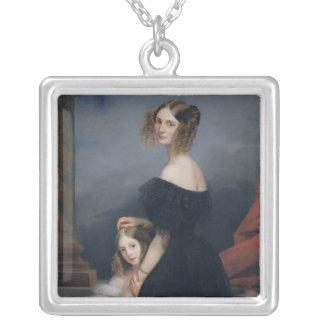 Porträtt av Anne-Louise Alix de Montmorency Silverpläterat Halsband