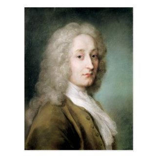 Porträtt av Antoine Watteau Vykort