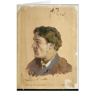 Porträtt av Anton Chekhov Hälsningskort