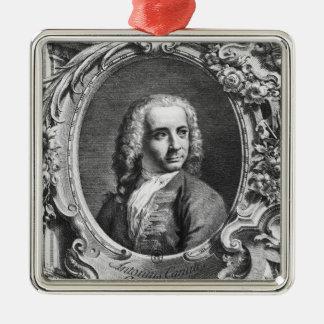 Porträtt av Antonio Canaletto Julgransprydnad Metall