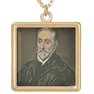 Porträtt av Antonio de Covarrubias y Leiva (1514-1 Guldpläterat Halsband