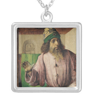 Porträtt av Aristotle, c.1475 Silverpläterat Halsband