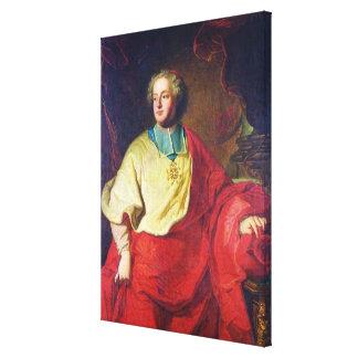 Porträtt av Armand Gaston Maximilien de Rohan Canvastryck