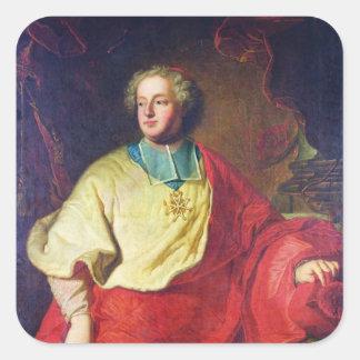 Porträtt av Armand Gaston Maximilien de Rohan Fyrkantigt Klistermärke