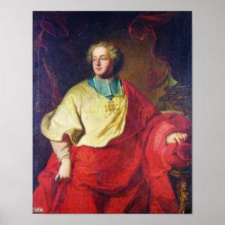 Porträtt av Armand Gaston Maximilien de Rohan Poster