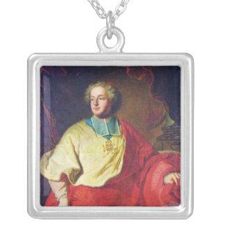 Porträtt av Armand Gaston Maximilien de Rohan Silverpläterat Halsband