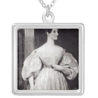 Porträtt av Augusta Ada Byron Silverpläterat Halsband