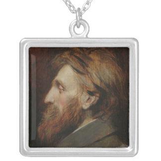 Porträtt av Auguste Rodin 1881 Silverpläterat Halsband