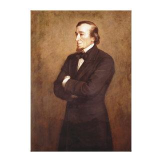 Porträtt av Benjamin Disraeli Canvastryck