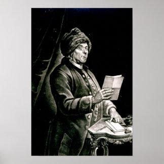 Porträtt av Benjamin Franklin, 1777 Poster