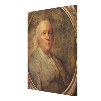 Porträtt av Benjamin Franklin, c.1780 Canvastryck
