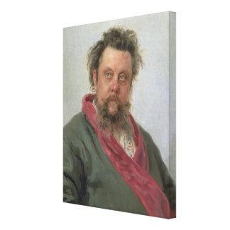 Porträtt av blygsamma Petrovich Moussorgsky 1881 Canvastryck