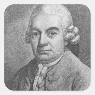 Porträtt av Carl Philipp Emanuel Bach (1714-88) (e Fyrkantigt Klistermärke