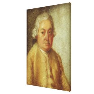 Porträtt av Carl Philipp Emanuel Bach, c.1780 Canvastryck