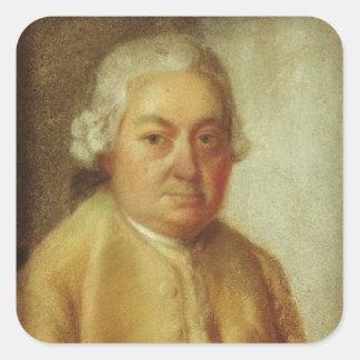 Porträtt av Carl Philipp Emanuel Bach, c.1780 Fyrkantigt Klistermärke