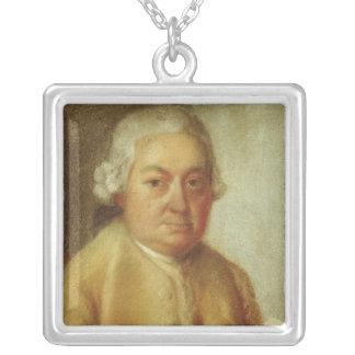 Porträtt av Carl Philipp Emanuel Bach, c.1780 Silverpläterat Halsband
