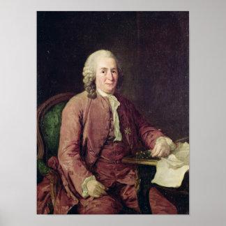Porträtt av Carl von Linnaeus Poster