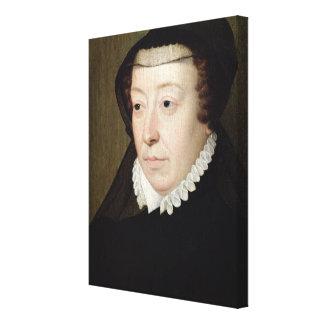 Porträtt av Catherine de Medici Canvastryck