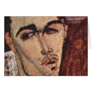 Porträtt av Celso Lagar - Amedeo Modigliani Hälsningskort