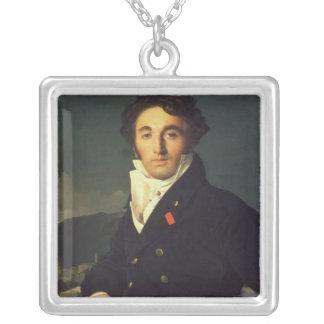 Porträtt av Charles Cordier 1811 Silverpläterat Halsband