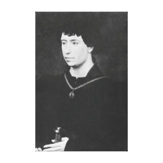 Porträtt av Charles det djärvt Canvastryck