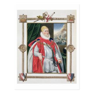 Porträtt av Charles Howard (1536-1624) 2nd Vykort
