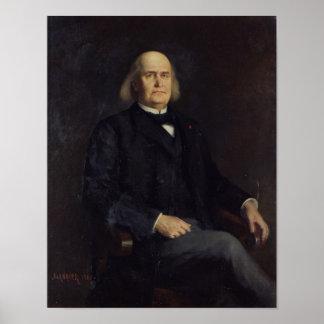 Porträtt av Charles Leconte de Lisle 1885 Poster