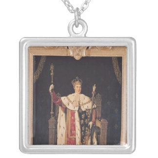 Porträtt av Charles X i Coronationskrud, 1829 Silverpläterat Halsband
