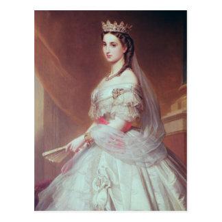 Porträtt av Charlotte av Saxe-Cobourg-Gotha Vykort