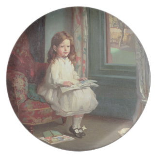 Porträtt av Clara Hughes, 1902 (olja på kanfas) Dinner Plate