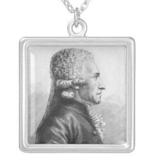 Porträtt av Claude Valdec de Lessart Silverpläterat Halsband