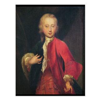 Porträtt av Comte Maurice de Saxe Vykort