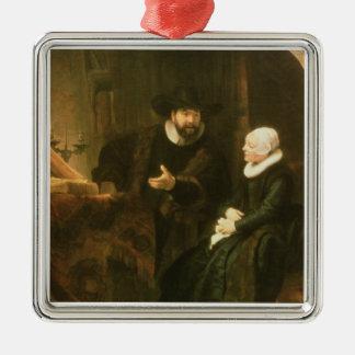 Porträtt av Cornelius Anslo och hans fru, 1641 Julgransprydnad Metall