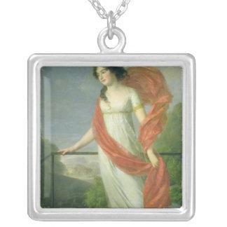 Porträtt av CountessTheresia småfiskar, 1801 Silverpläterat Halsband