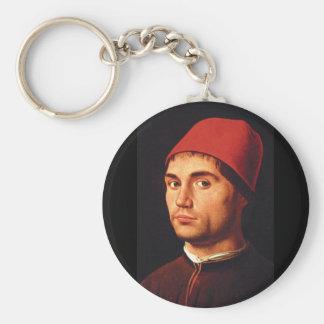 Porträtt av da_Portraits för Man', en Antonello Rund Nyckelring