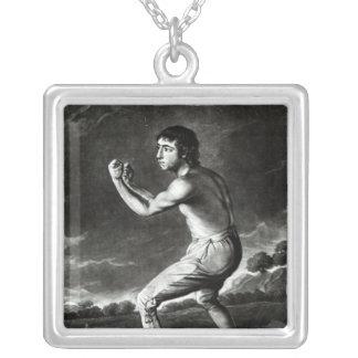 Porträtt av Daniel Mendoza Silverpläterat Halsband