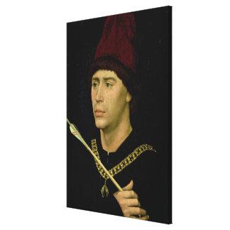 Porträtt av den Antoine oäktingen av Burgundy Canvastryck