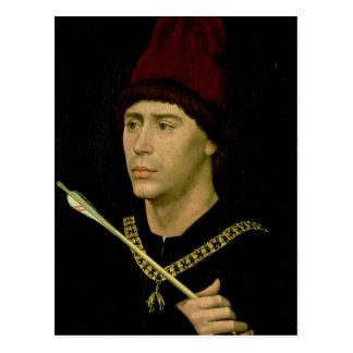 Porträtt av den Antoine oäktingen av Burgundy Vykort