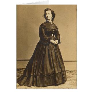 Porträtt av den fackliga spionen Pauline Cushman Hälsningskort