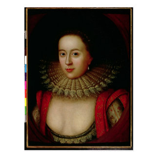Porträtt av den Frances Howard countessen av Vykort