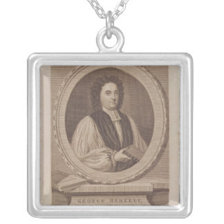 Porträtt av den George Berkeley biskopen Silverpläterat Halsband