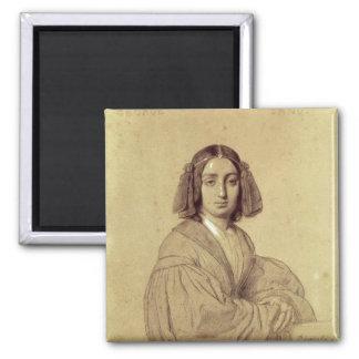 Porträtt av den George sanden 1837 Magnet