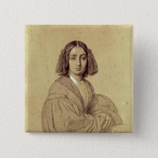 Porträtt av den George sanden 1837 Standard Kanpp Fyrkantig 5.1 Cm