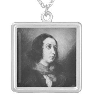 Porträtt av den George sanden, 1838 Silverpläterat Halsband