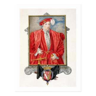 Porträtt av den Henry Howard (c.1517-47) earlen av Vykort